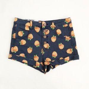 BDG UO | Lemon Print Pin Up Super High Rise Shorts